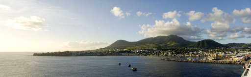 st-kitts-panorama - The harbor at Basseterre, St. Kitts.