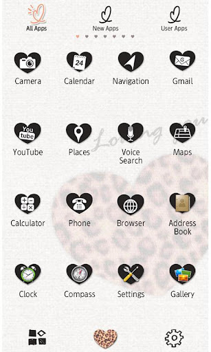 Cute Theme Big Leopard Heart 1.0 Windows u7528 2