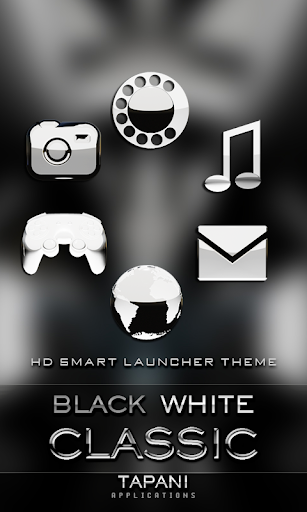 Smart Launcher theme black w.