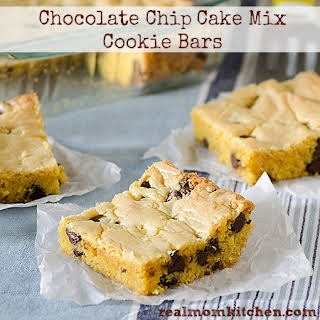 Chocolate Chip Cake Mix Cookie Bars.
