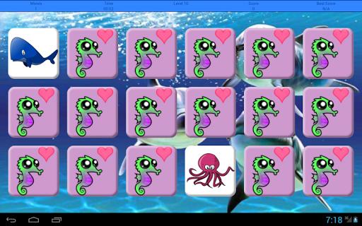 Sea Animals Memory Game|玩棋類遊戲App免費|玩APPs
