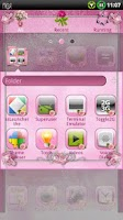 Screenshot of PINK ROSES GO Launcher Theme