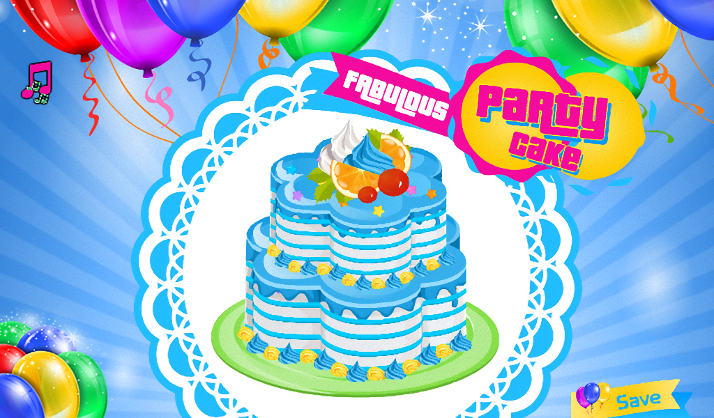Party Cake Decoration- screenshot