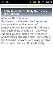 Aquarius Daily Horoscope - screenshot thumbnail