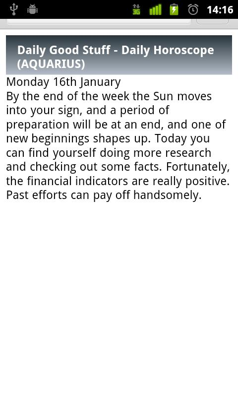 Aquarius Daily Horoscope - screenshot