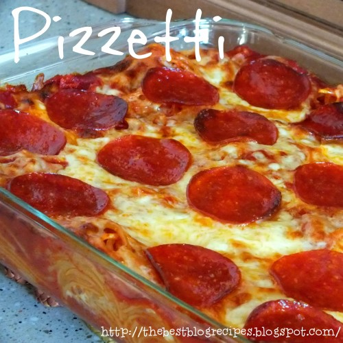 Pizzetti [Pizza & Spaghetti Casserole] Recipe