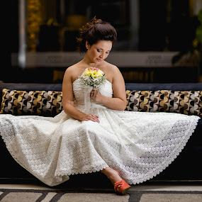 white by Jorge Asad - Wedding Bride ( getready, dress, wedding, night, bride )