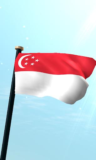 新加坡旗3D免费动态壁纸