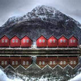 by Haavard Lien - Uncategorized All Uncategorized ( water, reflection, mountain, fjord, norway )