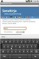 Screenshot of Sanakirja