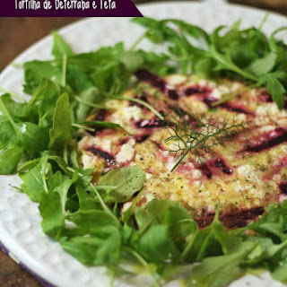 Beet  and Feta Cheese Tortilla