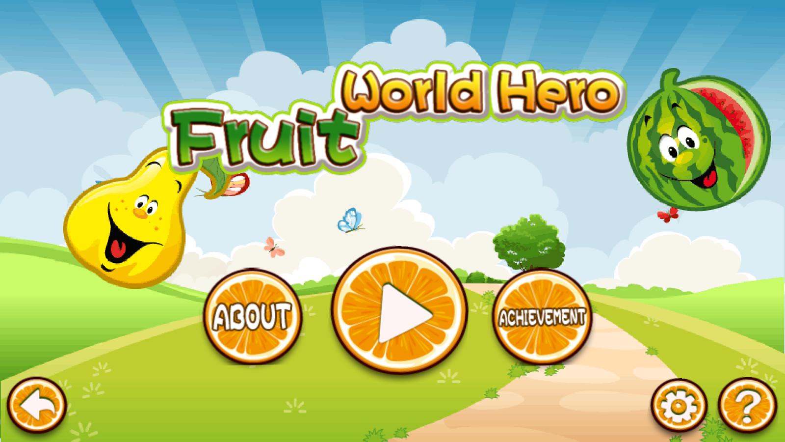 Fruit devil game - Fruit World Hero Free Screenshot
