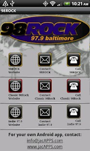Baltimore 98 Rock/WIYY 97.9 FM - screenshot thumbnail