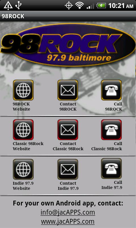 Baltimore 98 Rock/WIYY 97.9 FM - screenshot