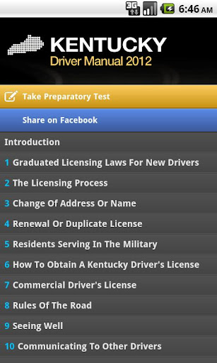 Kentucky Driver Manual