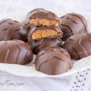 Sugar Free Chocolate Peanut Butter Easter Eggs.
