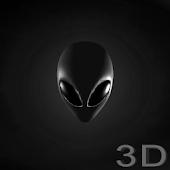 Grey Alien Head Wallpaper