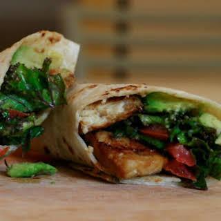 Kale Avocado Wraps With Spicy Miso-Dipped Tempeh [Vegan].