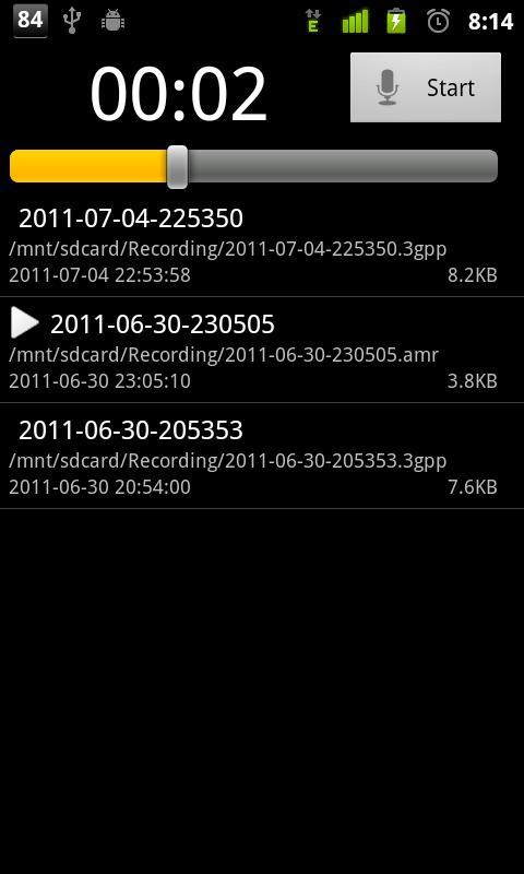 Sound Recorder- screenshot