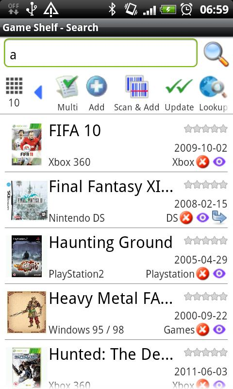 Game Shelf - screenshot