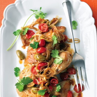 Chicken with Tomatoes, Olives, and Cilantro