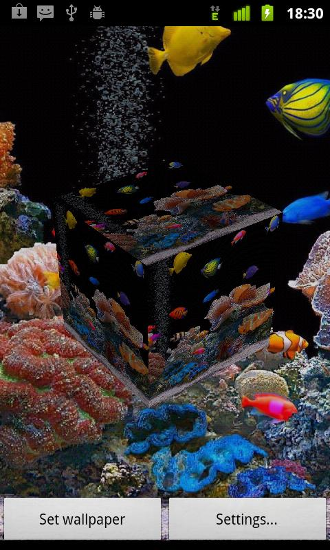 3D Fish live wallpaper - screenshot