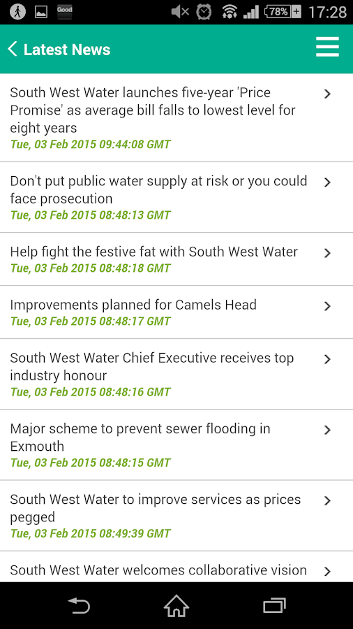 South West Water for Android- screenshot
