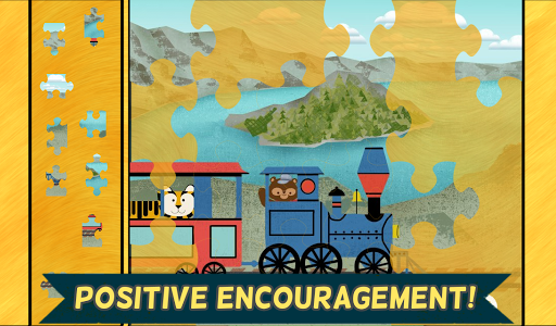 【免費教育App】兒童火車遊戲:動物園鐵路汽車拼圖 - 教育 版-APP點子