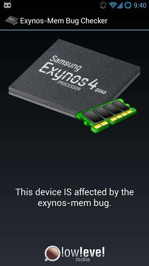 Exynos Mem Bug Checker - screenshot