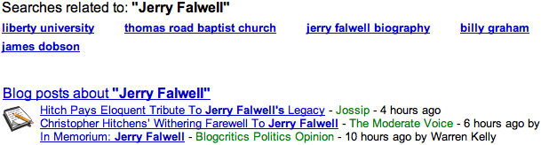 Google results Jerry Falwell
