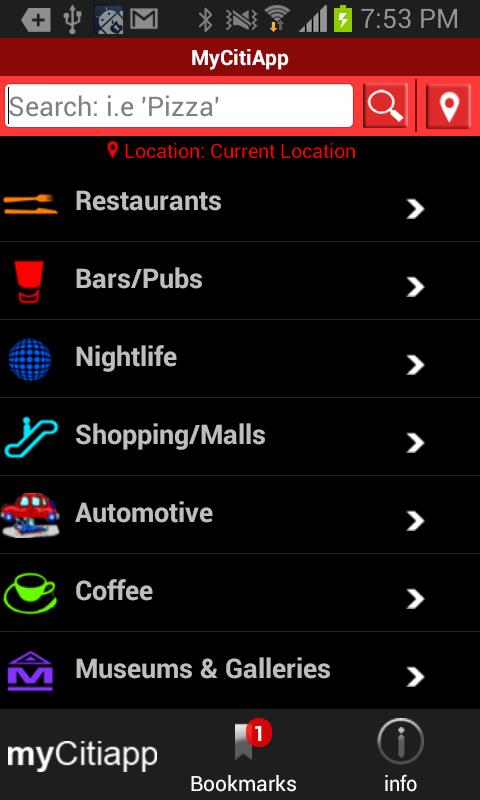 myCitiApp - screenshot