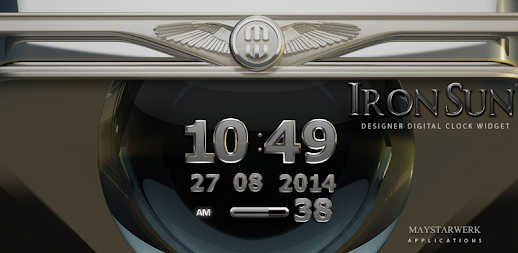 Digi Clock Widget Iron Sun APK
