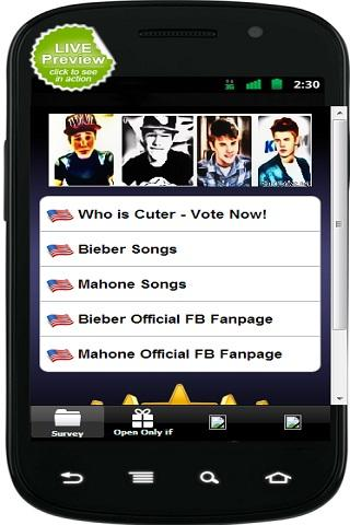【免費娛樂App】Mahone vs Bieber-APP點子