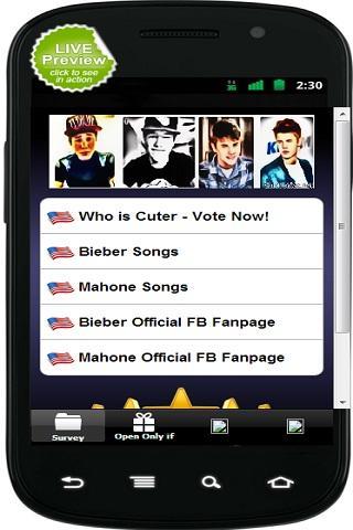【免費娛樂App】Mahone vs Bieber-APP點子