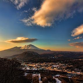 Karuizawa Sky by Lenny Sharp - Landscapes Cloud Formations ( clouds, japan, sky, sunset, karuizawa, asama )