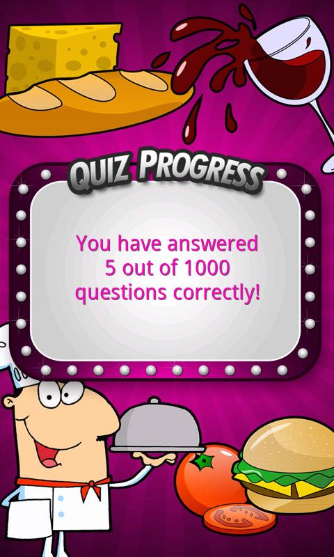 FreePlay Food Quiz - screenshot