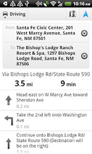 Polaris GPS Navigation Screenshot