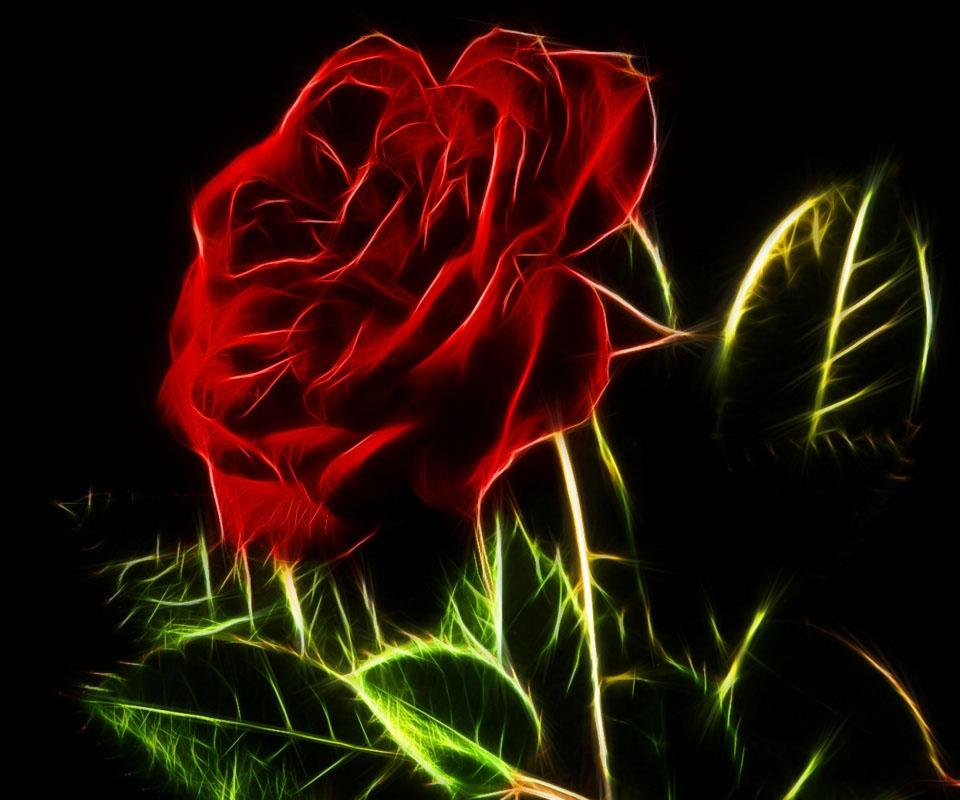 3d rose digital abstract-#45