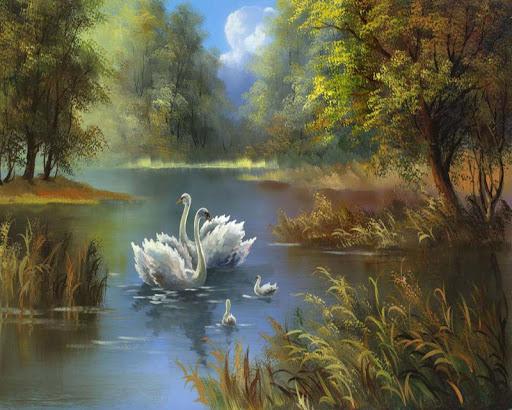 風景油畫拼圖