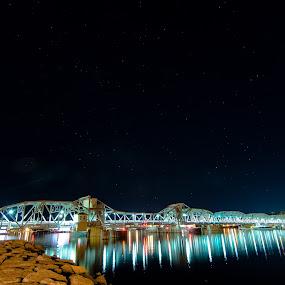 Bridge to Paradise by Luke Collins - Buildings & Architecture Bridges & Suspended Structures ( wisconsin, sturgeon bay, door county, d7100, july, night, steel bridge, nikon, michigan street bridge )