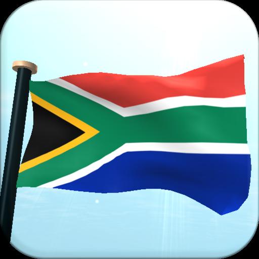 南アフリカフラグ3D無料ライブ壁紙 個人化 LOGO-玩APPs