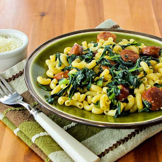 Pasta with Sausage and Collard Greens.