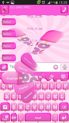 GO短信加强版粉红冰淇淋