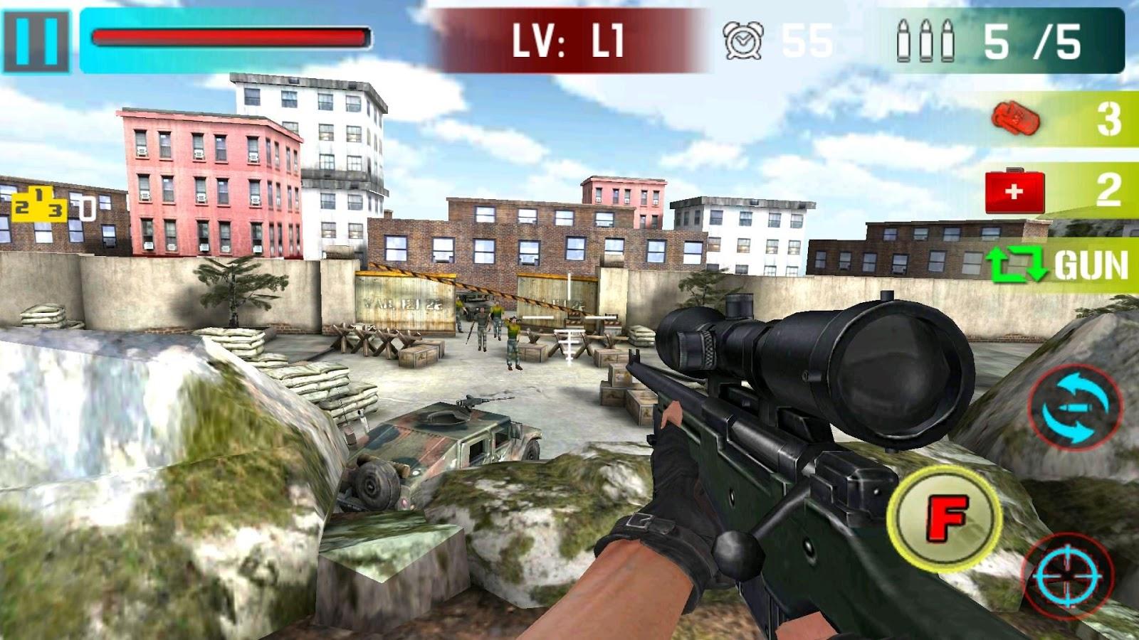 Screenshots of Sniper Shoot War 3D for iPhone