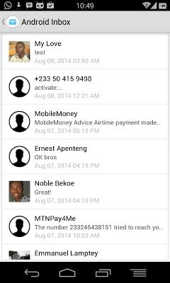 Internet SMS - screenshot