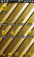 Screenshot of Golden GO Launcher EX Theme