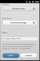 Screenshot of Time Zones