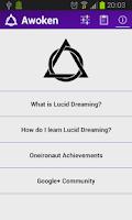 Screenshot of Awoken - Lucid Dreaming Tool