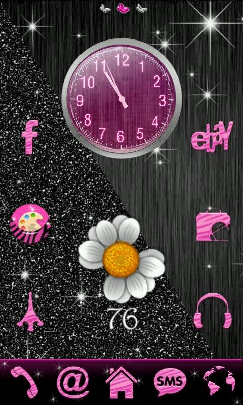 Pink Zebra Theme for Launcher - screenshot