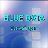 Blue Data Live wallpaper
